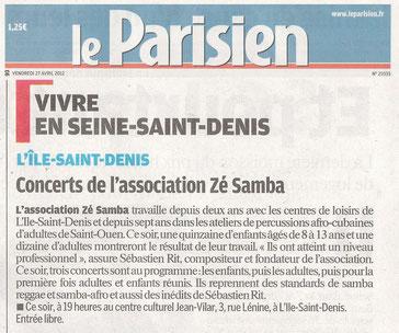 La Batukîle et Zé Samba dans le Parisien