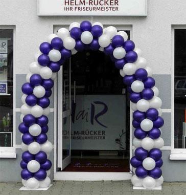 Luftballon Ballon Bogen Dekoration Firmenevent Neueröffnung Jubiläum Friseur Friseursalon Blumen