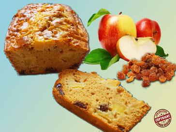 recette cake pomme raisin sec sans gluten sans lactose