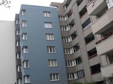Fassadensanierung der Omega-Spezialbau GmbH im Wilhelmsruher Damm