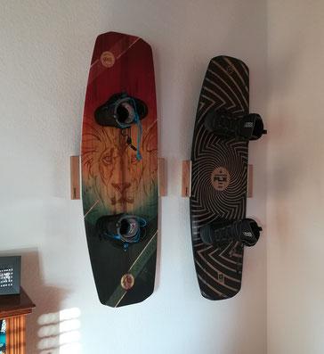 Wandhalterung Wandmontage Wakeboard horizontal vertikal Halterung good wall mount LED Beleuchtung beleuchtet