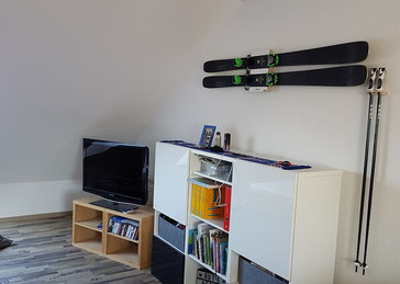 Wandhalterung Wandmontage Ski horizontal vertikal Ski Halterung wall mount Skistock Halter
