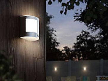 applique d'éclairage extérieur posé en façade