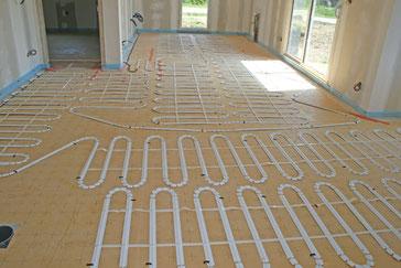 Installation d'un plancher chauffant électrique