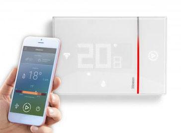 Gestionnaire de chauffage géré à partir d'un smartphone