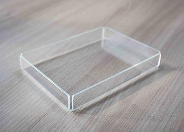Tablett Pralinen transparent 704, FMU GmbH, Tablett, Auslegetablett, Pralinentablett