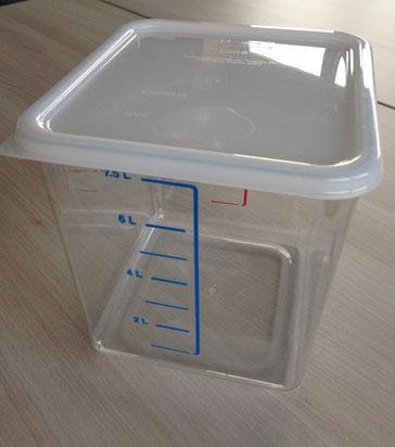 Platzsparbehälter 7.5L inklusive Deckel, FMU GmbH, Sonderverkauf Verkaufshilfen