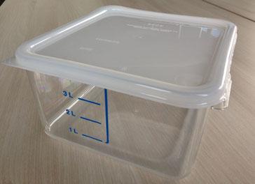 Platzsparbehälter 3.8L inklusive Deckel, FMU GmbH, Sonderverkauf Verkaufshilfen