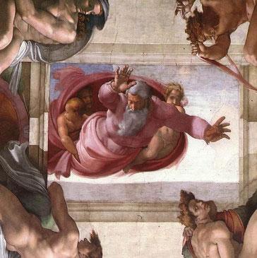 Michel-Ange, Séparation de la terre et des eaux, Chapelle Sixtine, Vatican, 1511 (source : wga)