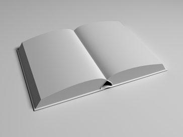 Grafik: Ein Buch mit unbedruckten Seiten