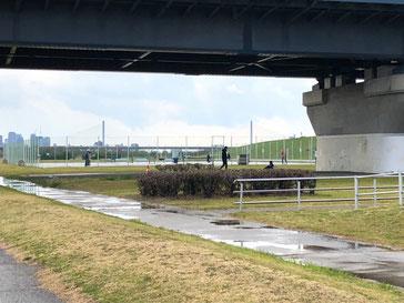豊里大橋下はバーベキュー禁止