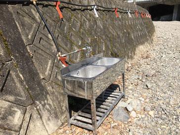 BBQエリア内の水道設備