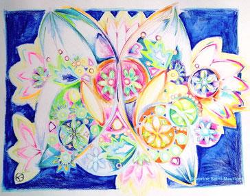 dessin intuitif, severine saint-maurice, lescerclesdelumiere.com, mandala, printemps