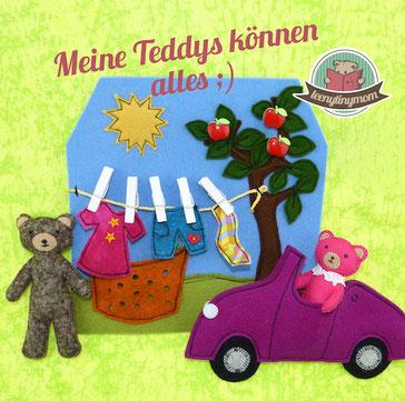Genderneutrales Spielzeug Spielbuch Stoffbuch Quiet book Nähanleitung Freebook