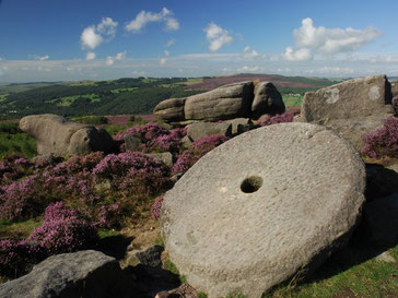 Millstone.  Official symbol of the Peak District National Park