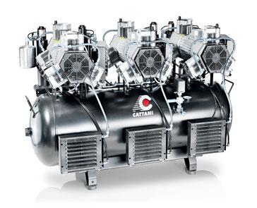 Cattani - Produkte - Dentalkompressoren - 6-Zylinder-Kompressoren