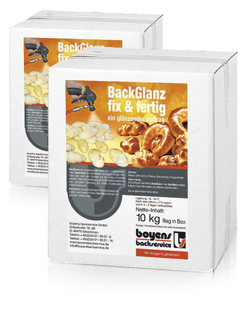 vegan und mit Clean-Label: Boyens BackGlanz fix & fertig, Bag in Box 10 kg