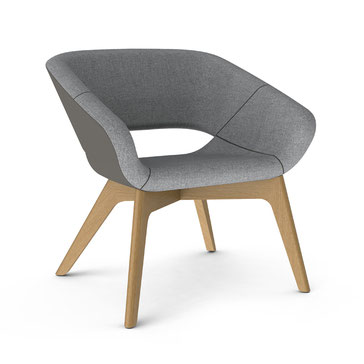 Züco, Averio, Sessel, Loungfamilie, Loungsessel, Holzgestell, Eiche, Interior Innovation Award 2020, Design, Iconic Award 2020 Winner