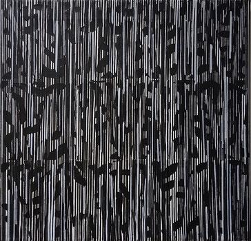 O.T., Acryl auf Leinwand, 40 x 40 cm, 2018