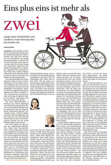 Eins plus eins ist mehr als zwei – Artikel aus Salzburger Nachrichten © 2018