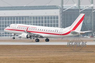 SP-LIG LOT Polish Government Embraer ERJ-175 Flughafen München Sicherheitskonferenz
