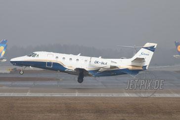 OK-SLX Silesia Air Cessna 560XL Citation Excel Landung am Flughafen München zur Sicherheitskonferenz 2017