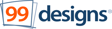 Logo di 99designs, la più grande piattaforma al mondo di graphic design in crowdsourcing.