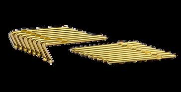 Rundstift mit Prägung - vergoldet