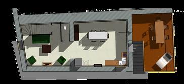 Plan R+1 Maison en pierre à Romanèche