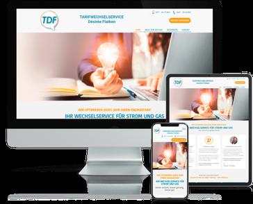 Referenz-Website TDF Tarifwechselservice Flatken