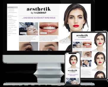 Referenz-Website Aesthetik by Ina Zierhut