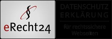 eRecht 24 Siegel Datenschutzerklärung für rechtssichere Webseiten