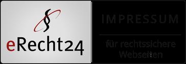 eRecht 24 Siegel Impressum für rechtssichere Webseiten