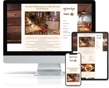 Referenz-Website CafeHG-Backtraum