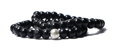 Combo de 2 bracelets en bois noir