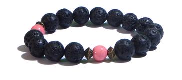 Bracelet noir et rose