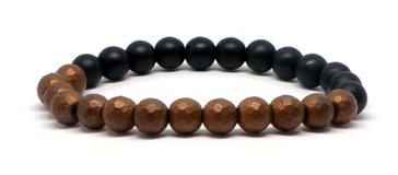 Bracelet noir et Hématite