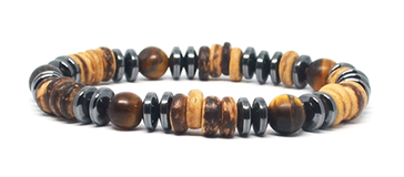 bracelet homme en perles bois