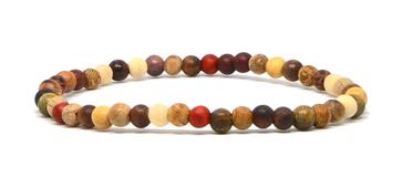 Bracelet en bois naturel et coloré