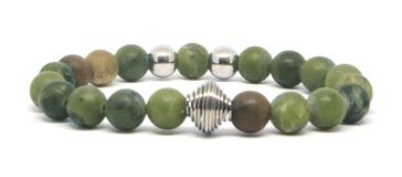 bracelet homme en Jade Vert