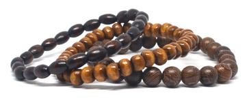 Combo de trois bracelets homme en bois