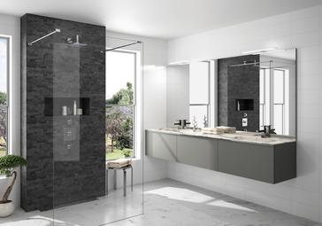 cuisine intérieur design  toulouse salle de bain moderne tendance contemporaine plan de travail effet marbre épurée