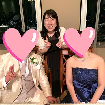 男性会員の結婚二次会での写真