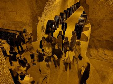 Champagnestreek wijnhuis Taittinger bezoek