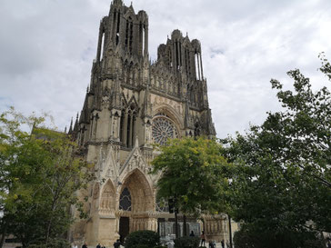 Champagne streek Notre Dame in Reims
