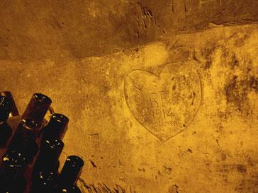 Champagnestreek wijnhuis Taittinger muurschilderingen