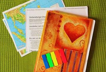Weltreise-Planung - Notizbuch