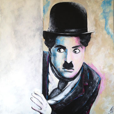 """Where is the Kid, Mr. Chaplin?"", 2013, acrylic on canvas, 80x80"