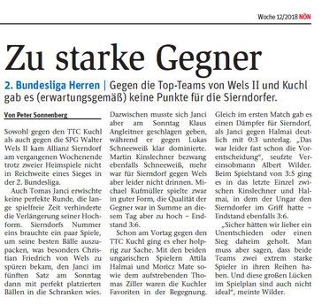 NÖN-Sportchef Peter Sonnenberg berichtet laufend über den TTV.