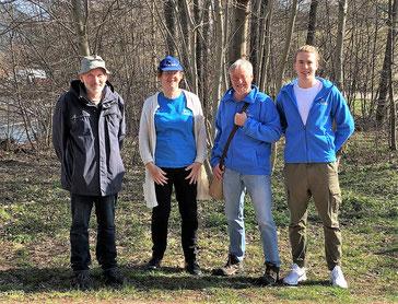 Eberhard Valtinke, Birgit Eppler, Roger Cornitzius und Peter Kappel - die Sprecher des NABU Freudenstadt